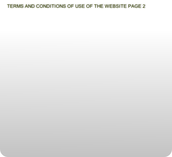 TERMS AND CONDITIONS OF USE OF THE WEBSITE PAGE 2